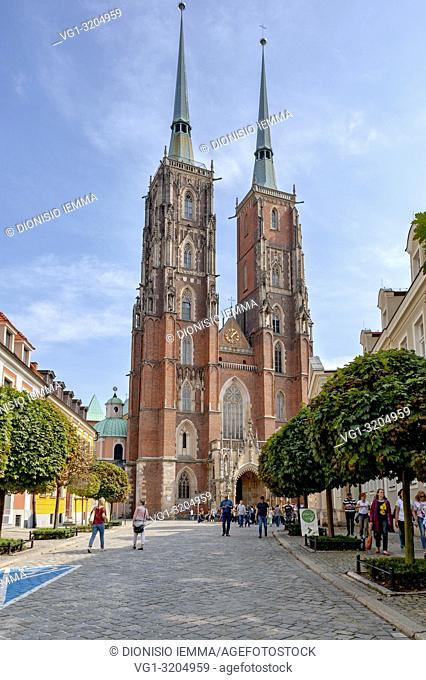 Wroclaw, Poland, Polska, Lower Silesia, Dolnoslaskie, Cathedral of St. John the Baptist in Ostrów Tumski, Europe