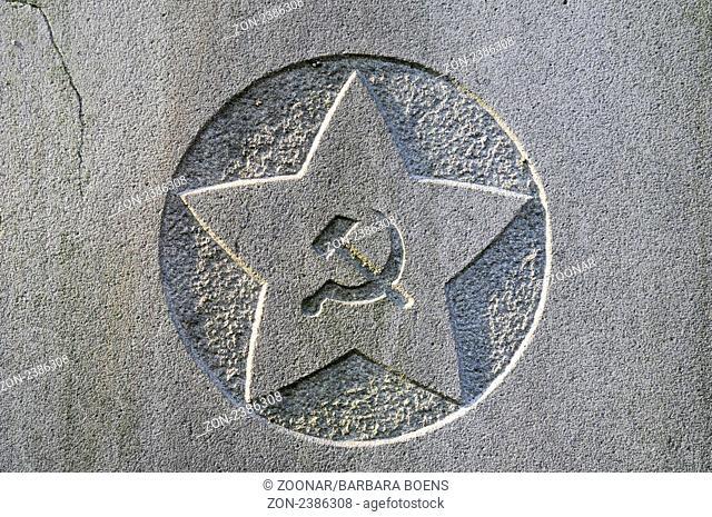 Hammer And Sickle Symbols Of Communism Star Jewish Cemetery