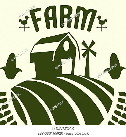 Farm concept with icons design, vector illustration 10 eps graphic