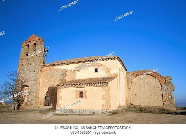 Old church in Otero de Sariegos  Villafáfila Lagoons Natural Reserve  Villafáfila  Zamora  Castilla y León  Spain