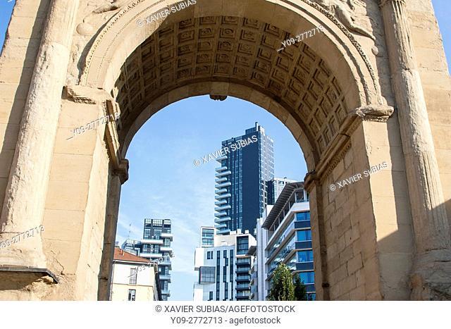 Porta Nuova, Principessa Clotilde square, Milan, Lombardy, Italy