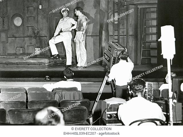 Henry Fonda plays to an audience of lights and television cameras from the Broadway stage. It is an experimental television 'first'