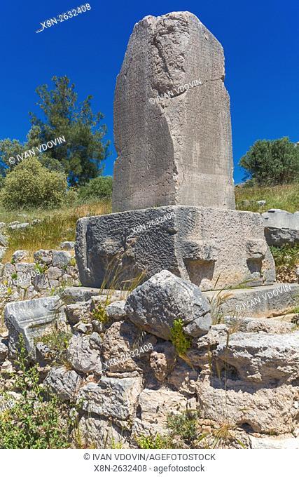 Xanthian Obelisk, Xanthus Stele, Xanthos, Antalya Province, Turkey
