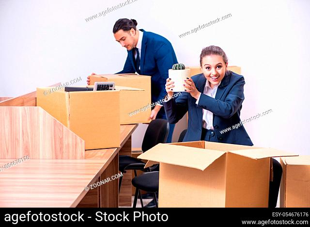 The two employees being fired from their work