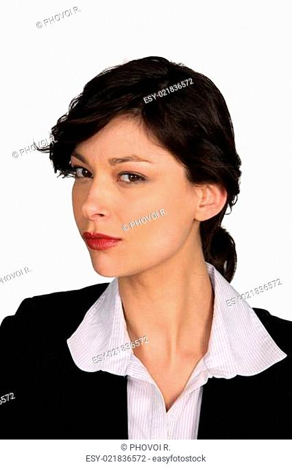 Portrait of a curious businesswoman