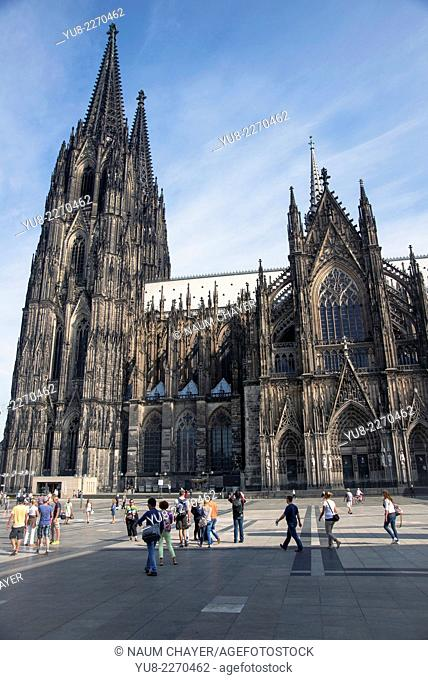 World famous Cologne cathedral, Köln, Germany, Europe
