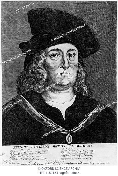 Theophrastus Bombastus von Hohenheim Paracelsus, Swiss alchemist, physician and pioneer of medical chemistry, 16th century