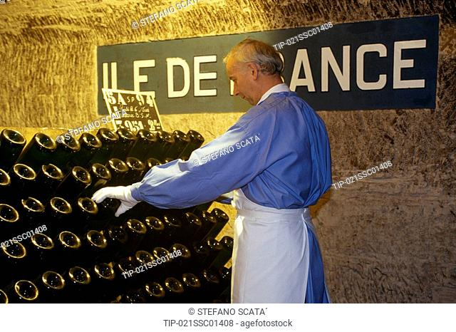 Europe, France, Champ Arden, Champagne Pommery cellar