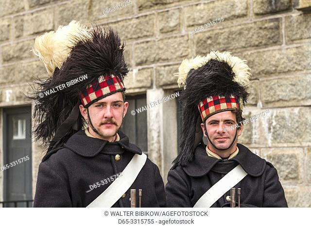 Canada, Nova Scotia, Halifax, Citadel Hill National Historic Site, soldier re-enactor guard, MR-CAN-18-02 and MR-CAN-18-03