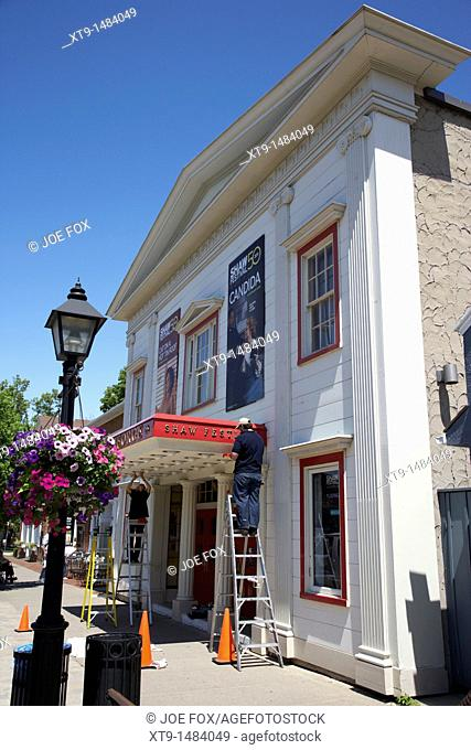 the royal george theatre getting ready for the shaw festival niagara-on-the-lake ontario canada