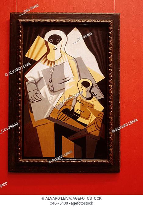 'Pierrot' (1921) by Juan Gris (1887-1927) in the National Gallery of Ireland, Dublin. Ireland