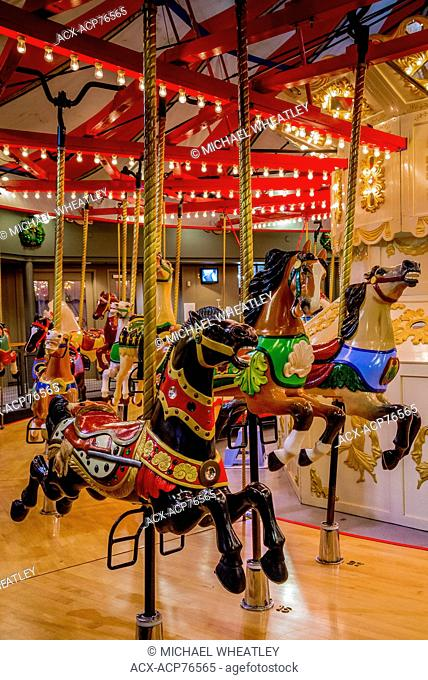 The Parker Carousel, Burnaby Village Museum, Burnaby, British Columbia, Canada