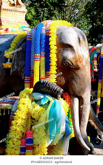 Thailand Phuket Laem Phromthep Elephant shrine at Promthep Cape