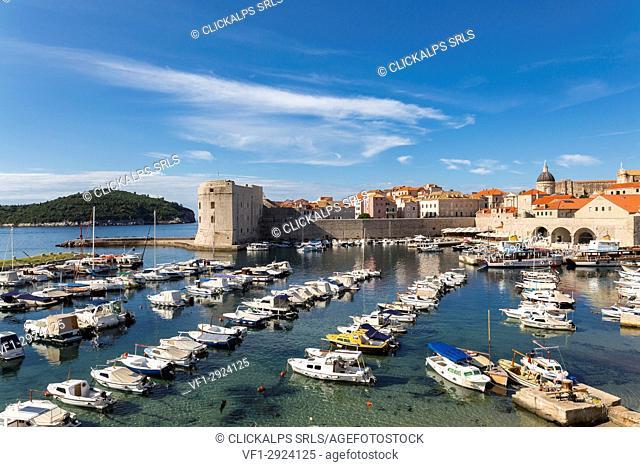 The tourist port (old port) of Dubrovnik (Dubrovnik, Dubrovnik-Neretva county, Dalmatia region, Croatia, Europe)