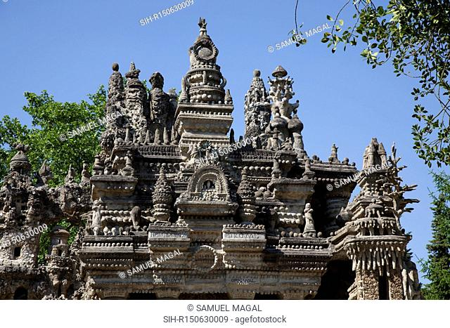 From 1879 to 1912, French postman Ferdinand Cheval built his Ideal Palace. Cheval built the palace with stones he had collected during his daily mail route