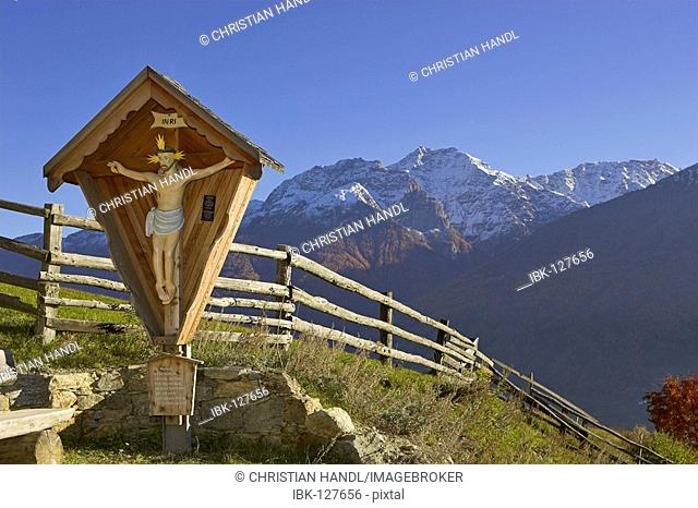 Mountains of the Ortler mountain range, Tanas, Vinschgau, South Tyrol, Italy