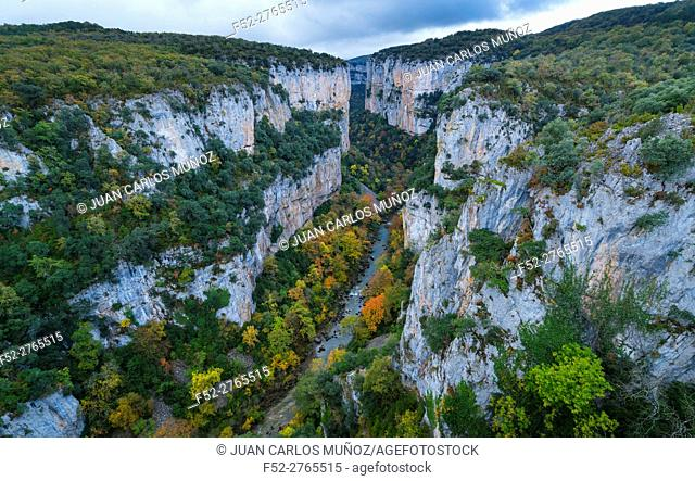 Foz de Arbayún, Salazar River, Navarra, Spain, Europe