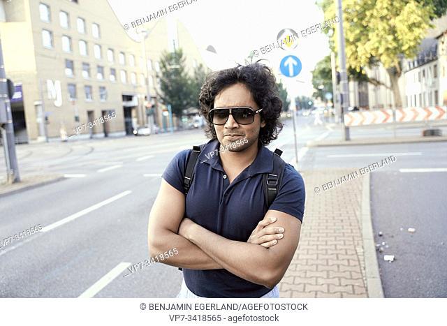Portrait of Indian man. Frankfurt, Germany