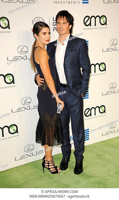 26th Annual Environmental Media Awards (EMA) - Arrivals Featuring: Ian Somerhalder, Nikki Reed Where: Los Angeles, California