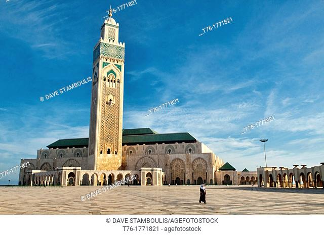 The amazing Hassan II Mosque in Casablanca, Morocco