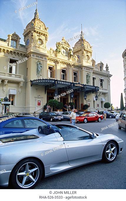 Casino and Ferrari, Monte Carlo, Monaco, Europe