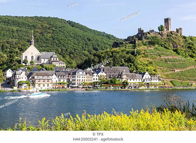 Germany, Rhineland-Palatinate, Moselle, Beilstein and Metternich Castle