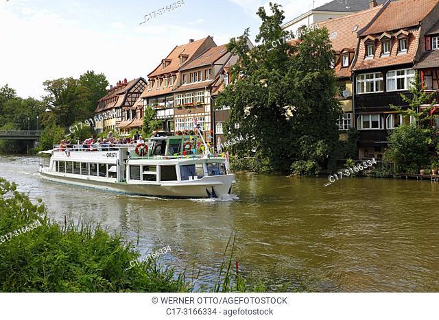 Bamberg, D-Bamberg, Regnitz, Main-Danube Canal, Upper Franconia, Franconia, Bavaria, Little Venice at the Regnitz, Klein-Venedig, former fisheries, fishing camp
