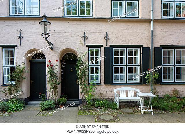 Füchtingshof / Fuechting's Courtyard in the Hanseatic town Lübeck / Luebeck, Schleswig-Holstein, Germany