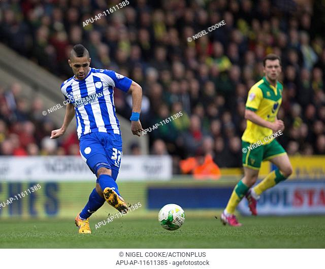 2015 Skybet Championship Norwich City v Sheffield Wednesday Apr 6th. 06.04.2015. Norwich, England. Skybet Championship. Norwich City versus Sheffield Wednesday
