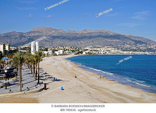 Beach, Albir, Altea, Alicante, Costa Blanca, Spain