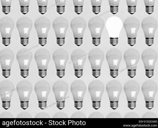 Collage of light bulbs