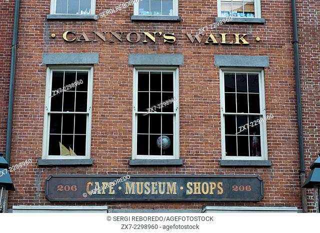 The South Street Seaport Museum's Maritime Crafts Center, Bowne Printers and Bowne & Co. Stationers are in Lower Manhattan