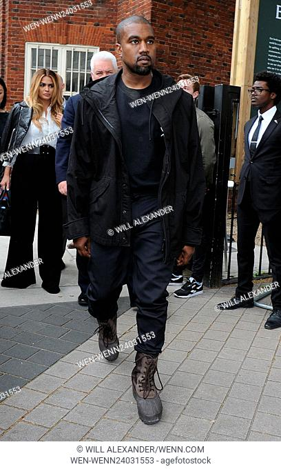 Kim Kardashian and Kanye West leave The Vogue 100 Festival Featuring: Kanye West Where: London, United Kingdom When: 21 May 2016 Credit: Will Alexander/WENN