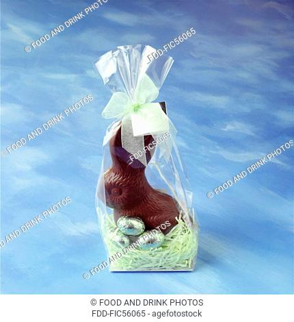 Chocolate Easter Bunny in its packaging