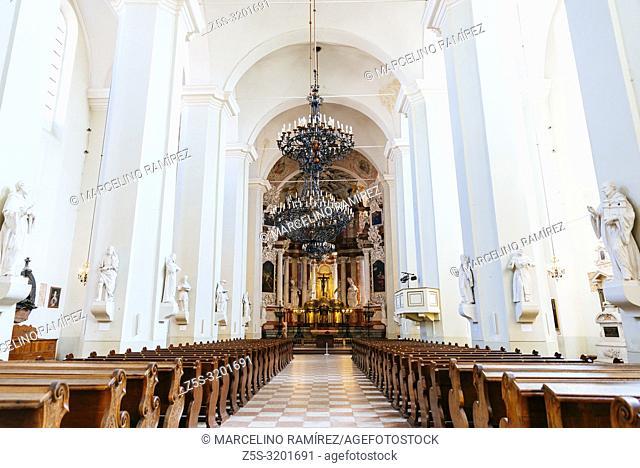 The Church of St. Johns, St. John the Baptist and St. John the Apostle and Evangelist. Vilnius University. Vilnius, Vilnius County, Lithuania, Baltic states