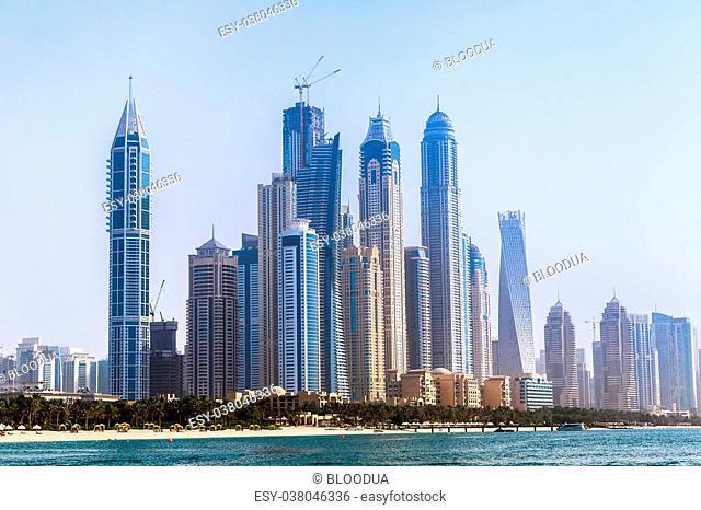 Modern buildings in Dubai Marina, Dubai, United Arab Emirates