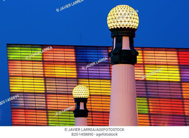 Carnival decorations, Kursaal, San Sebastian, Donostia, Gipuzkoa, Euskadi, Spain