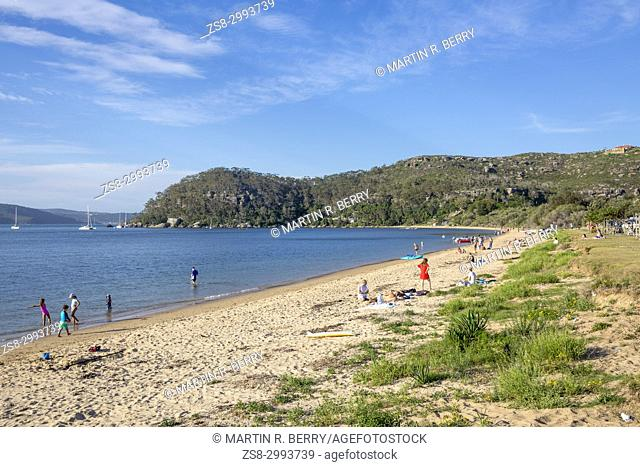 Station Beach on the Pittwater shores at Palm beach in Sydney,Australia
