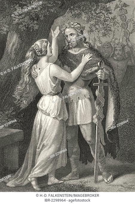 Arminius the Cheruscan with his wife, Hermann and Thusnelda, by Friedrich Gottlieb Klopstock