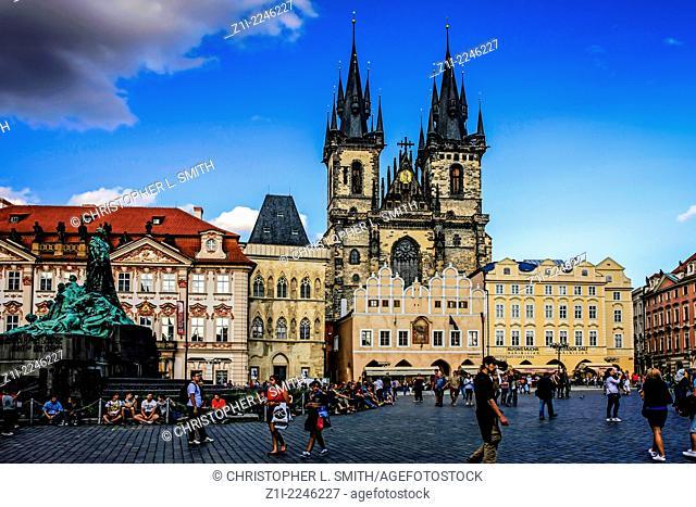 Church of Our Lady of Tyn in Staromestska Square Prague