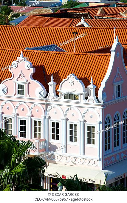 Dutch Architecture, Oranjestad, Aruba, Lesser Antilles, Central America