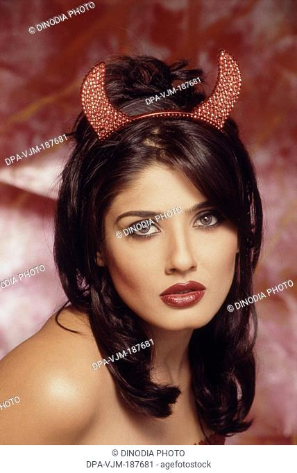 2003, Portrait of Indian film actress Raveena Tandon