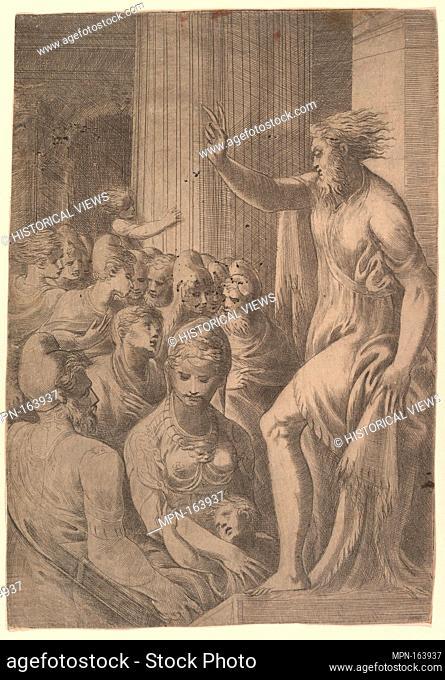 Saint Paul preaching in Athens. Artist: Andrea Schiavone (Andrea Meldola) (Italian, Zadar (Zara) ca. 1510?-1563 Venice); Date: ca