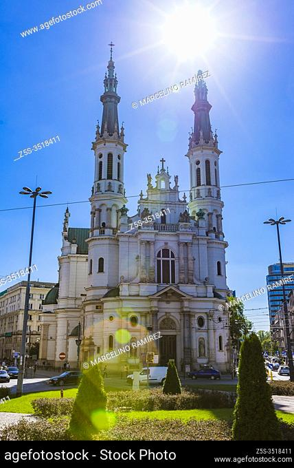 Church of the Holiest Saviour. It is located on the Saviour Square. Warsaw, Poland, Europe