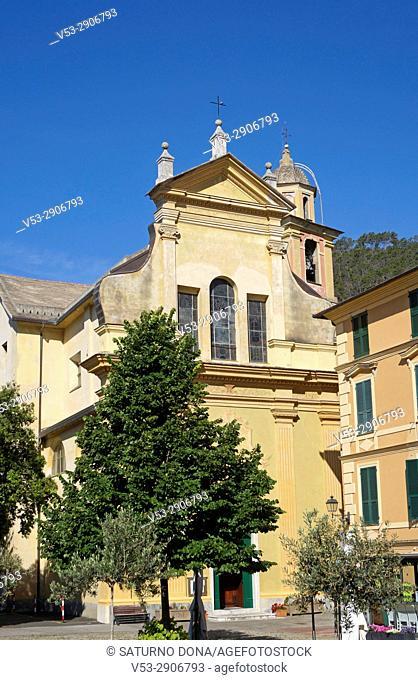 Church of St. Catherine (Santa Caterina d'Alessandria) in Bonassola, Liguria, Italy