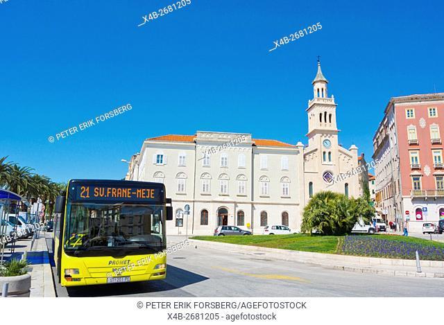 Bus 21, Trg Republike, Split, Dalmatia, Croatia
