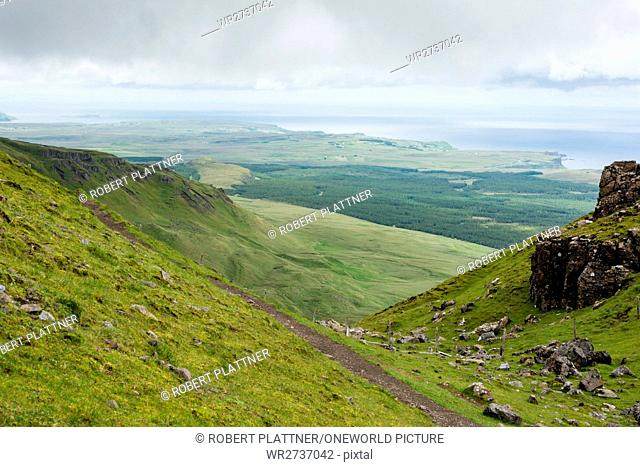United Kingdom, Scotland, Highlands, Isle of Skye, Portree, At Old Man of Storr, Trotternish