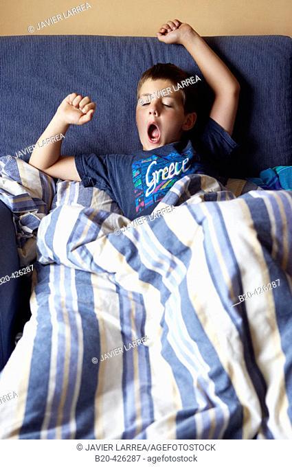 8 year old boy stretching