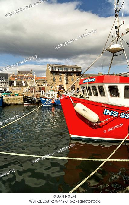 Burghead fishing boat