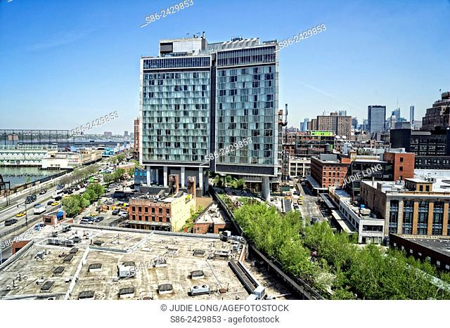 Looking North from the Meatpacking District, Manhattan, New York City